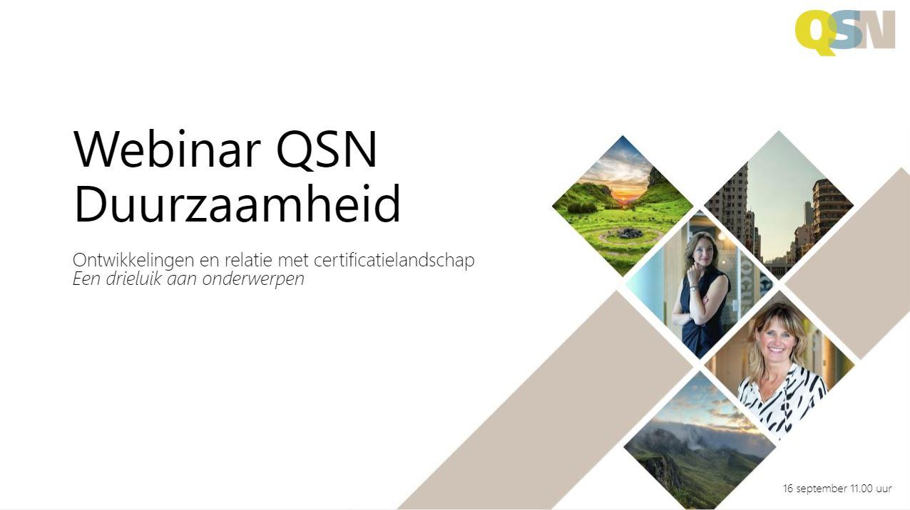 QSN Webinar duurzaamheid